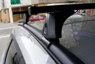 Стальные поперечины на интегрированные рейлинги Honda HR-V 2015- Cruz ST