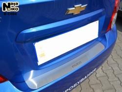 Накладка на бампер Chevrolet Aveo 2012- седан Premium