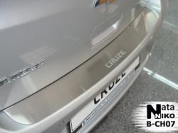 Накладка на бампер Chevrolet Cruze 2011- хэтчбек Premium