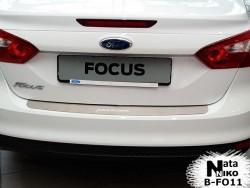 Накладка на бампер Ford Focus 2011-2015 седан Premium