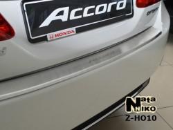 Накладка на бампер с загибом Honda Accord 2013- Premium