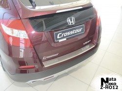 Накладка на бампер с загибом Honda Crosstour 2010- Premium