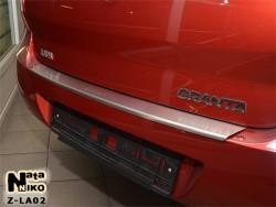 Накладка на бампер с загибом Lada Granta 2011- Premium