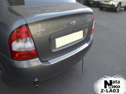Накладка на бампер с загибом Lada Kalina 1118 06-12 седан Premium