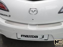 Накладка на бампер Mazda 3 2009-2013 хэтчбек Premium