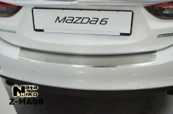 Накладка на бампер с загибом Mazda 6 2013- Premium