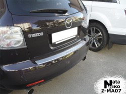 Накладка на бампер с загибом Mazda CX7 2006-2012 Premium