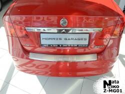 Накладка на бампер с загибом MG 350 2012- Premium