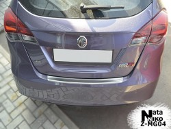 Накладка на бампер с загибом MG5 2012- 5 дверей Premium