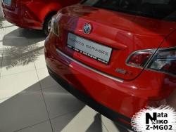 Накладка на бампер с загибом MG6 2012- седан Premium