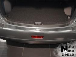 Накладка на бампер с загибом Mitsubishi ASX 2013- Premium