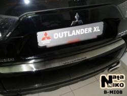 Накладка на бампер Mitsubishi Outlander XL 2007-2012 Premium