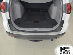 Накладка на бампер с загибом Mitsubishi Pajero Sport 2008- Premium