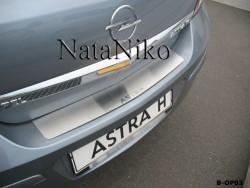 Накладка на бампер Opel Astra H 2004-2014 седан Premium