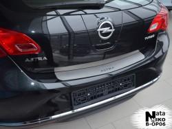 Накладка на бампер Opel Astra J 2009- хэтчбек Premium