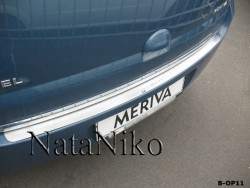 Накладка на бампер Opel Meriva 2010- Premium