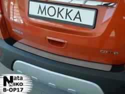 Накладка на бампер Opel Mokka 2012- Premium