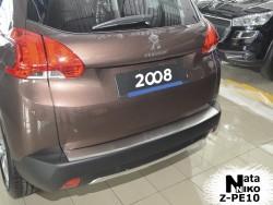 Накладка на бампер с загибом Peugeot 2008 2013- Premium