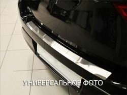 Накладка на бампер с загибом Peugeot 308 2014- хэтчбек Premium