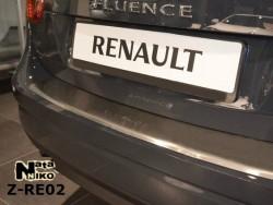 Накладка на бампер с загибом Renault Fluence 10-12, 12- Premium