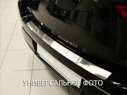 Накладка на бампер с загибом Renault Kangoo 08-13, 13- Premium