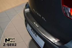 Накладка на бампер с загибом Seat Altea XL 2006- Premium