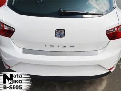 Накладка на бампер Seat Ibiza 2008- 5 дверей Premium
