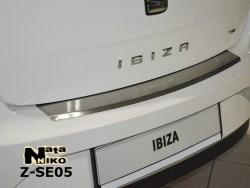Накладка на бампер с загибом Seat Ibiza 2008- 5 дверей Premium
