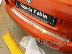 Накладка на бампер Skoda Fabia 2007-2015 хэтчбек Premium