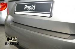 Накладка на бампер Skoda Rapid 2012- Premium
