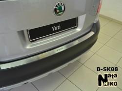 Накладка на бампер Skoda Yeti 2009-2013 Premium