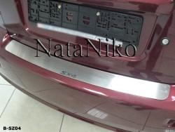 Накладка на бампер Suzuki SX4 2006-2013 седан Premium