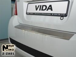Накладка на бампер с загибом ZAZ Vida 2013- хэтчбек Premium