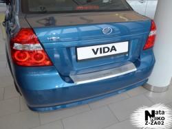 Накладка на бампер с загибом ZAZ Vida 2013- седан Premium