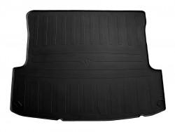 Черный коврик в багажник Skoda Octavia лифтбек 1996-2010, резиновый Stingray