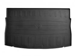 Черный коврик в багажник Volkswagen Golf хэтчбек 2012-, резиновый Stingray