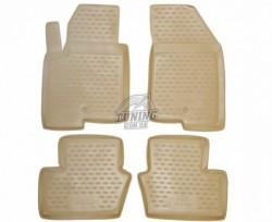 Полиуретановые коврики в салон Dodge Caliber 2006- Element бежевые 4 шт