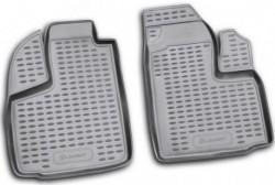 Полиуретановые коврики в салон Fiat Doblo Cargo Maxi 10-15, 15- Element черные 2 шт