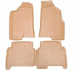 Полиуретановые коврики в салон Hummer Hummer H3 2005-2010 Element бежевые 4 шт