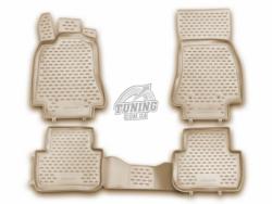 Полиуретановые коврики в салон Jaguar XF 2007-2015 Element бежевые 4 шт