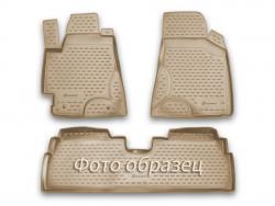 Полиуретановые коврики в салон Cadillac SRX 2010-2016 Element бежевые 3 шт