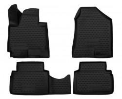 Полиуретановые коврики в салон Jac S5 2014- Element черные 4 шт