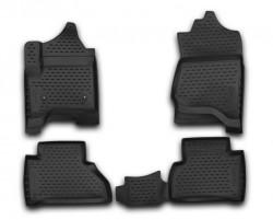 Полиуретановые коврики в салон Cadillac Escalade 2015- Element черные 4 шт