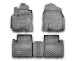 Полиуретановые коврики в салон Lifan X60 2012- Element черные 4 шт