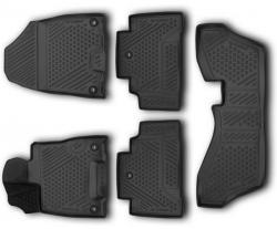 Полиуретановые коврики в салон Acura MDX 2013- Element черные 5 шт