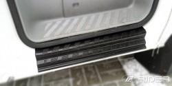Матовые накладки на пороги Mercedes Sprinter 2006- Premium