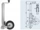 Опорное колесо Winterhoff 400 кг, со стальным диском - фото 2