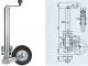Опорное колесо Winterhoff для 500 кг, со стальным диском - фото 2