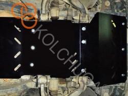 Защита двигателя, КПП, радиатора и РКПП Dodge Ram 2006-2009 Кольчуга ZiPoFlex