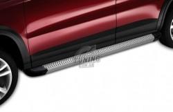 Алюминиевая подножка Opel Crossland X 2017- Maya V2